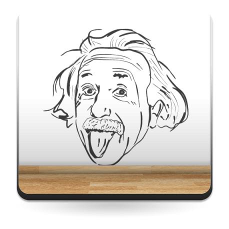 adhesivo decorativo Einstein Motivo