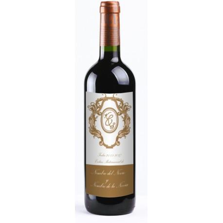 "adhesivo decorativo Etiqueta Vino ""Barroco"" 20 UDS"
