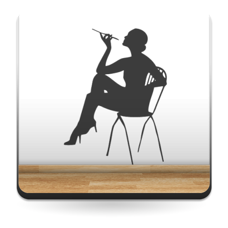 Mujer Fumando imagen vinilo decorativo