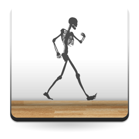 pegatina pared Esqueleto Motivo I
