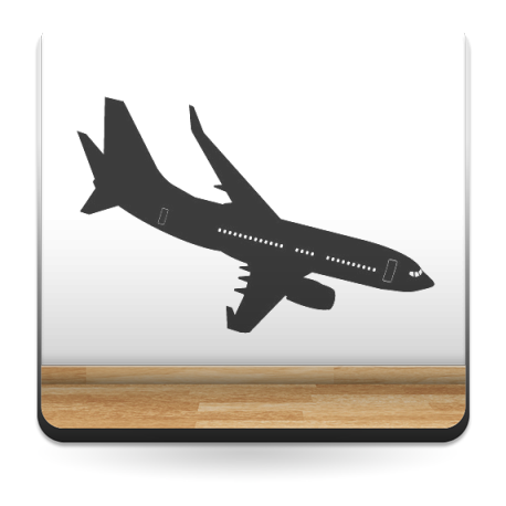 adhesivo decorativo Avión Motivo I