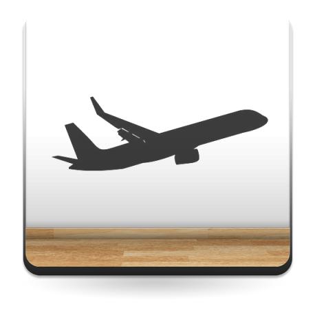 vinilos imagen producto Avión Motivo IV