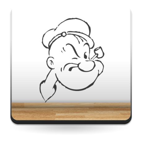 Popeye Cara I imagen vinilo decorativo