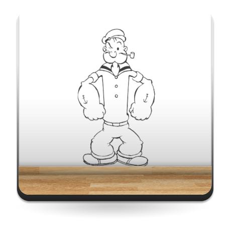 pegatina pared Popeye Cuerpo I