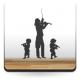 adhesivo decorativo Niños Violin