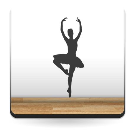 Bailarina Ballet IV adhesivo decorativo ambiente