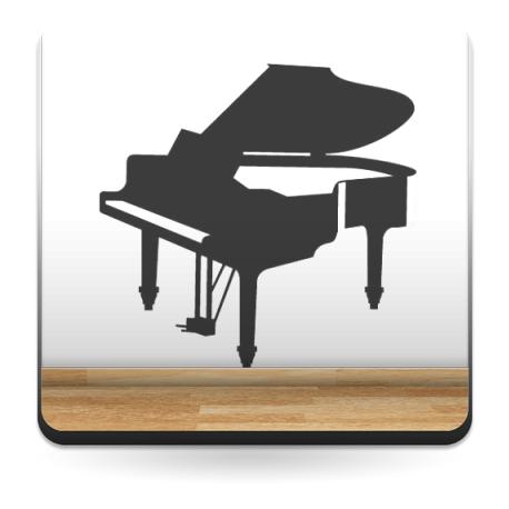 Piano Motivo I decoración con vinilo