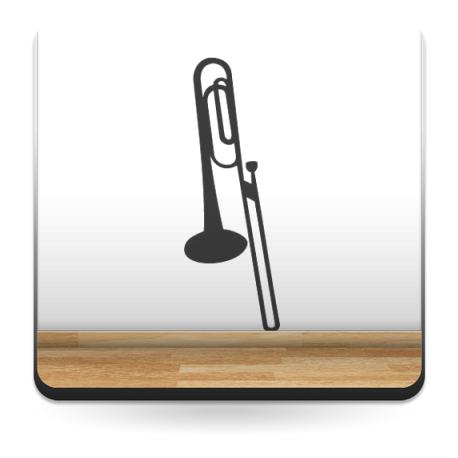pegatina pared Trompeta Motivo