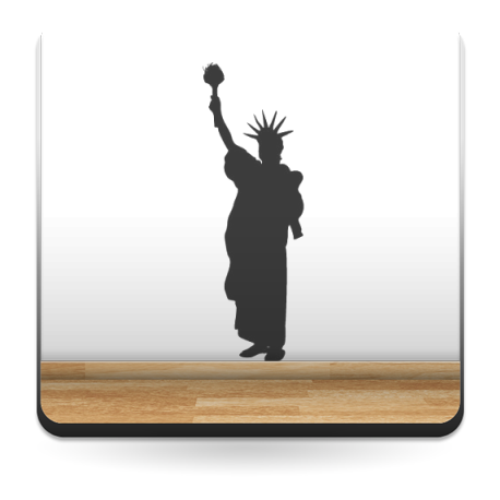 adhesivo decorativo Estatua de la Libertad II