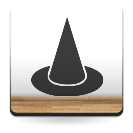 pegatina decorativa Sombrero Bruja