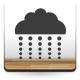 Nube con Lluvia I decoración con vinilo