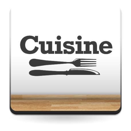 Cuisin Texto decoración con vinilo