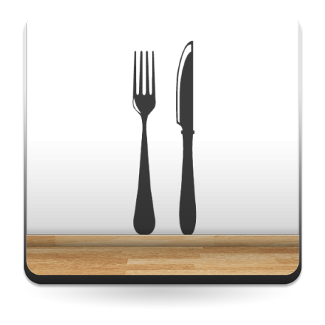 pegatina decorativa Tenedor y Cuchillo