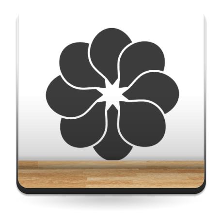 Geometría Floral I producto vinilos