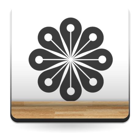 Geometría Floral III decoración con vinilo