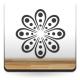 Geometría Floral V adhesivo decorativo ambiente