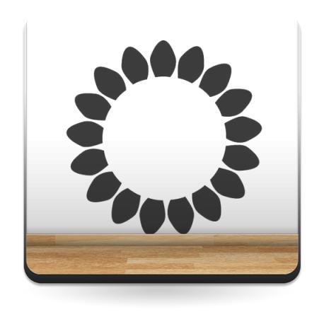vinilos imagen producto Geometría Floral VIII