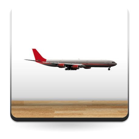 adhesivo decorativo Avión Pegatina III