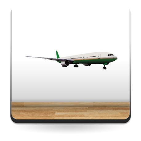 Avión Pegatina IV imagen vista previa