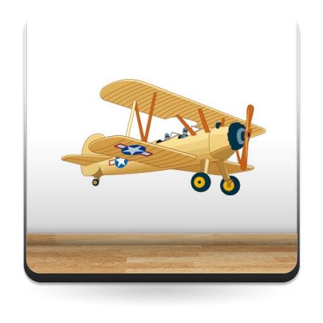 vinilo decorativo Avioneta Pegatina I
