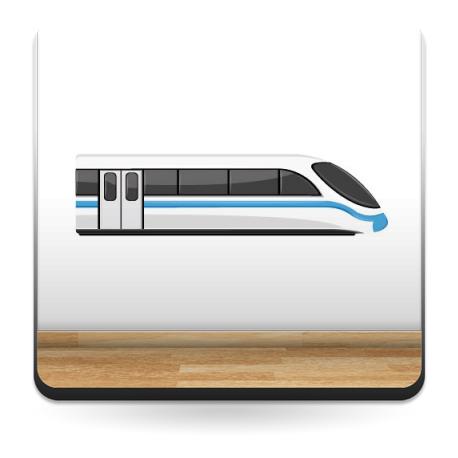 Tren Pegatina imagen vista previa