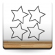 vinilos imagen producto Estrellas Perfil