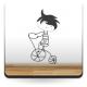 pegatina decorativa Niño con Bicicleta