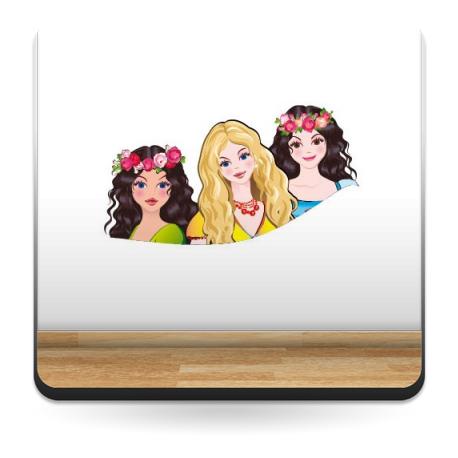 Princesas Pegatina decoración con vinilo