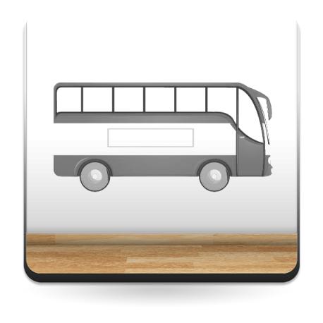 pegatina pared Autobús Pegatina