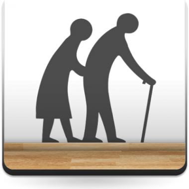 Símbolo Indicativo Ancianos producto vinilos