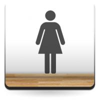 Símbolo Aseos Mujer