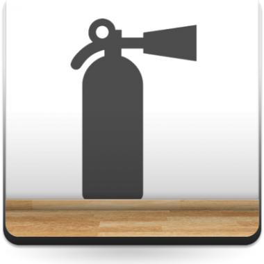 pegatina decorativa Símbolo Extintor