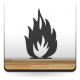 Símbolo Fuego imagen vinilo decorativo