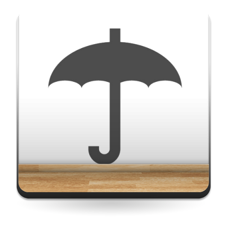 pegatina decorativa Símbolo Paraguas