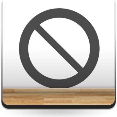 Símbolo Prohibido adhesivo decorativo ambiente