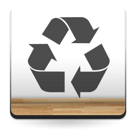 Símbolo Reciclaje producto vinilos