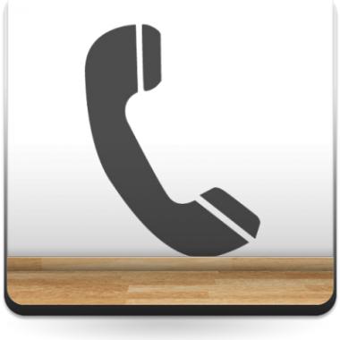 Símbolo Teléfono adhesivo decorativo ambiente