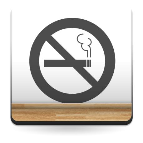 adhesivo decorativo Símbolo Prohibido Fumar