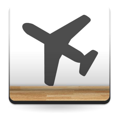 Símbolo Avión imagen vinilo decorativo