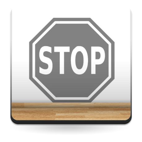 Símbolo STOP adhesivo decorativo ambiente