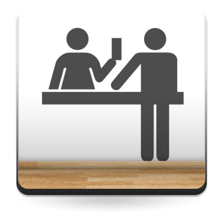 Símbolo Atención al Cliente decoración con vinilo