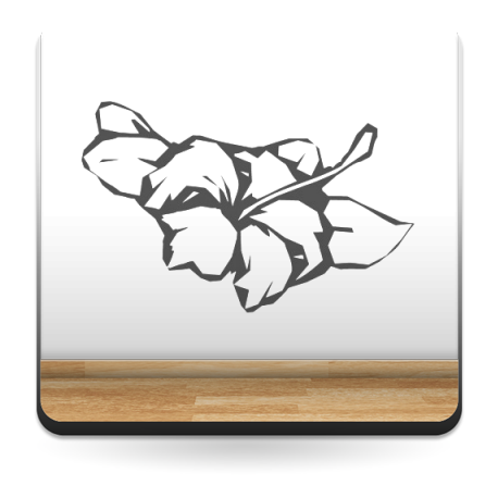 pegatina decorativa Flor Hawaiana