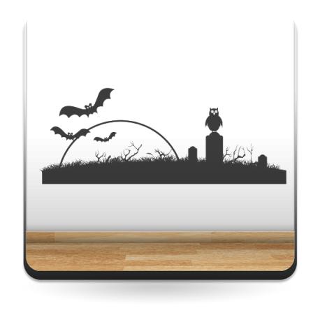 adhesivo decorativo Cementerio