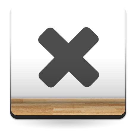 pegatina decorativa Icono X