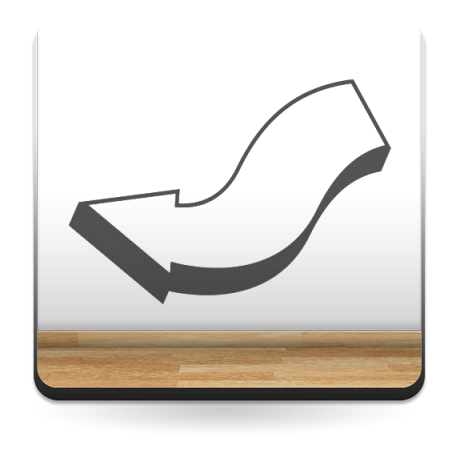 Flecha S decoración con vinilo