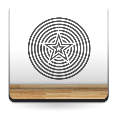 vinilo decorativo Geometría Psicodélica