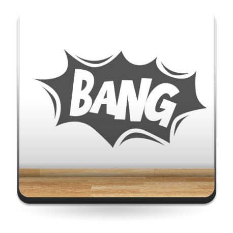 Onomatopeya Bang Motivo producto vinilos