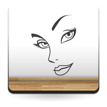 vinilos imagen producto Rostro Mujer II