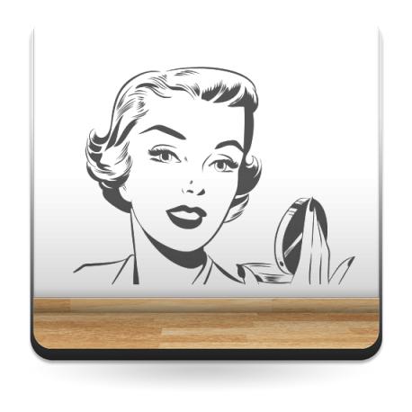 Cara Mujer Años 50 I imagen vinilo decorativo