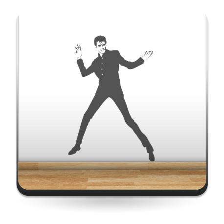 pegatina pared Elvis Presley I